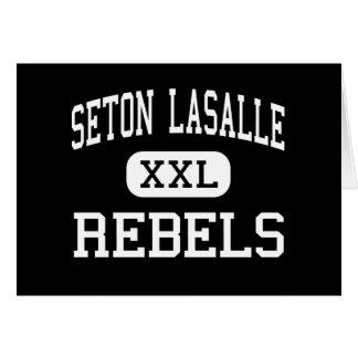Seton Lasalle - rebeldes - alto - Pittsburgh Tarjeta De Felicitación