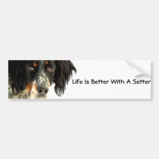 Setter Bumper Sticker