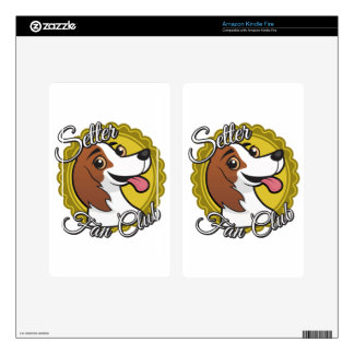 Setter Fan Club Decals For Kindle Fire