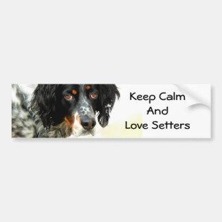 Setter Love Bumper Sticker