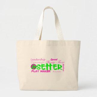 Setter Traits Large Tote Bag