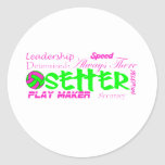 Setter Traits Round Stickers
