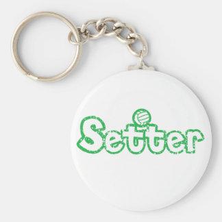 Setter Volleyball Basic Round Button Keychain
