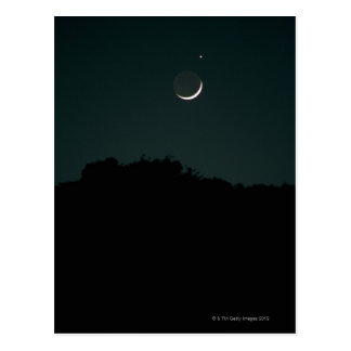 Setting Crescent Moon Postcard