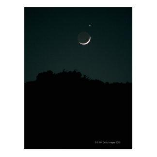 Setting Crescent Moon Post Card