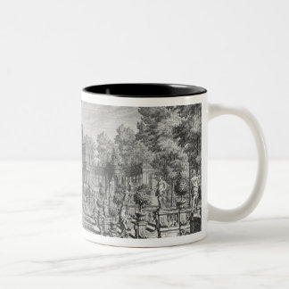 Setting for an opera in a garden, from 'Architectu Two-Tone Coffee Mug