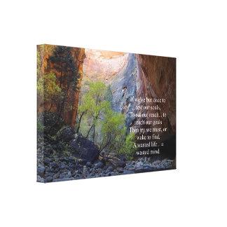 Setting Goals Inspirational Canvas Print