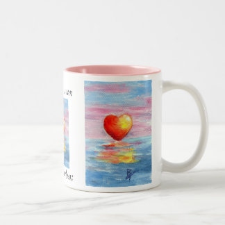 Setting Heart Mug
