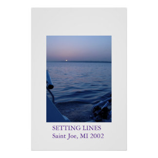 Setting Lines Poster