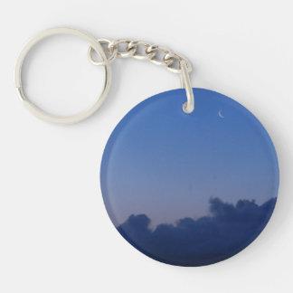 Setting Moon at Sunrise Acrylic Keychain
