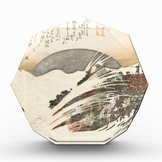 Setting Moon on Waves (19th Century) Acrylic Award