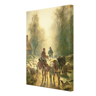 Setting off For Market Canvas Print
