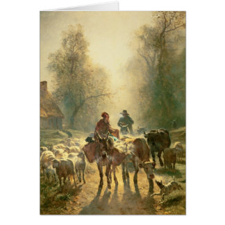 Setting off For Market Card