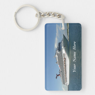 Setting Sail Custom Double-Sided Rectangular Acrylic Keychain
