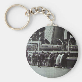 Setting Sail from New York City Vintage Basic Round Button Keychain