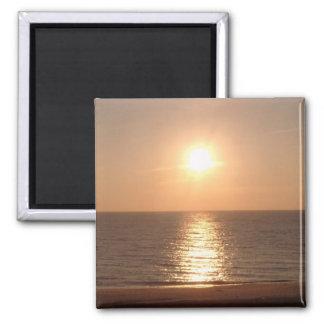 Setting Sun 2 Inch Square Magnet
