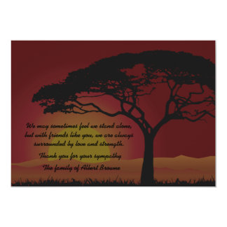Setting Sun Bereavement Thank You Notecard