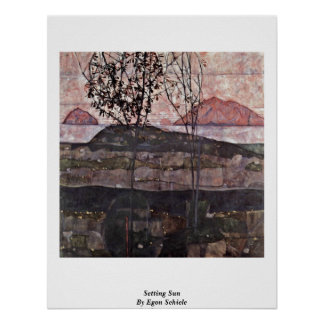 Setting Sun By Egon Schiele Posters