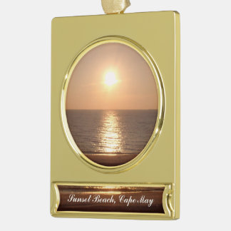 Setting Sun Gold Plated Banner Ornament