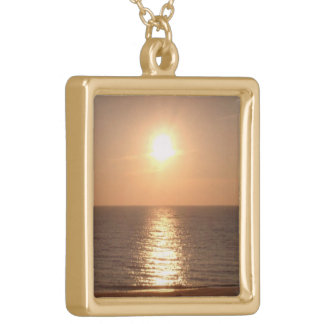 Setting Sun Gold Plated Necklace
