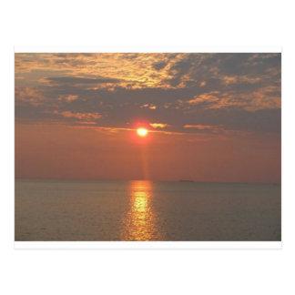 Setting Sun on Dauphin Island Postcard