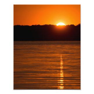 Setting Sun over Canyon Lake Reservoir Photo Print