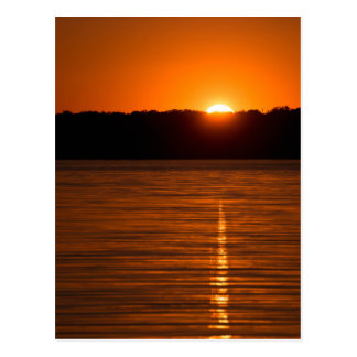 Setting Sun over Canyon Lake Reservoir Postcard