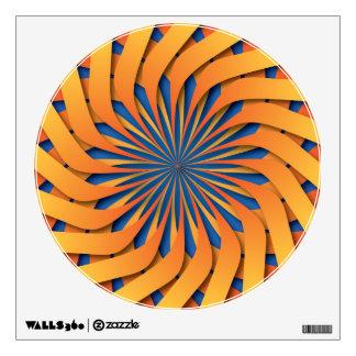 Setting sun pattern wall sticker
