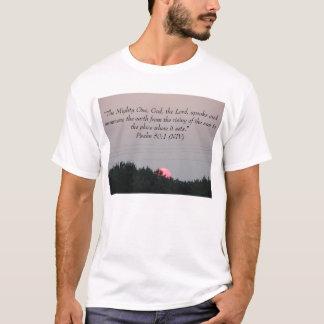 Setting Sun , Psalm 50:1 T-Shirt