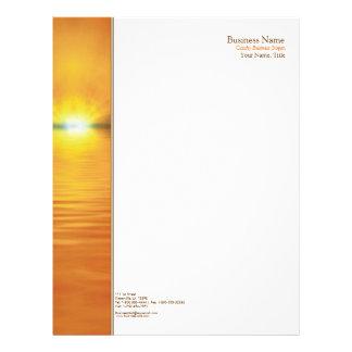 Setting Sun Side Border Letterhead