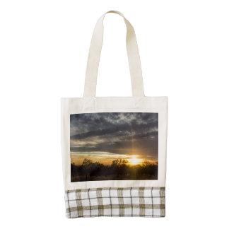 Setting Sun Zazzle HEART Tote Bag