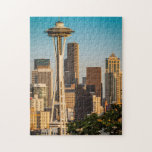 Setting Sunlight On The Space Needle And Seattle Puzzle