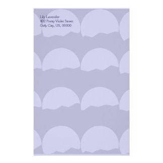 Setting Suns - Pale Purple Abstract Pattern Stationery