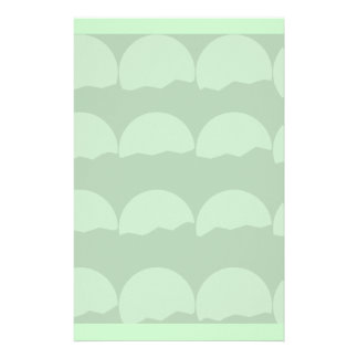 Setting Suns Pattern Pale Green Stationery