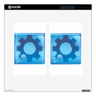 Settings Cog Wheel Underwater Blue Icon Button Kindle Fire Decal