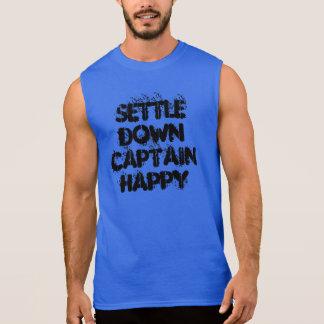 Settle Down Captain Happy Sleeveless Shirt