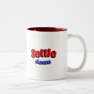 Settle Down Two-Tone Coffee Mug