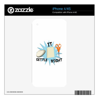 Settle It Right Decals For iPhone 4S