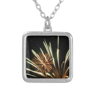 Settled in Arms Silver Plated Necklace