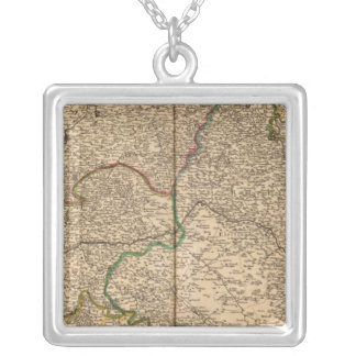 Settlements and forests in France 2 Silver Plated Necklace