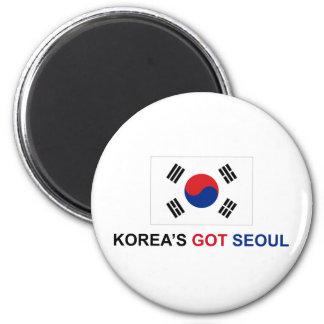 Seul conseguida de Corea Imán Redondo 5 Cm