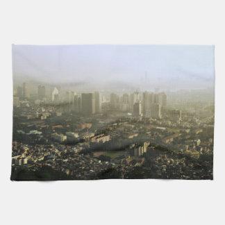 Seul desde arriba de la foto urbana toallas de cocina