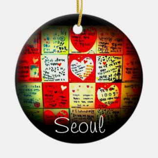 Seul, ornamento del navidad de la Corea del Sur Adorno Navideño Redondo De Cerámica