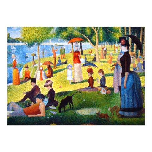 Seurat: A Sunday at La Grande Jatte Invitation