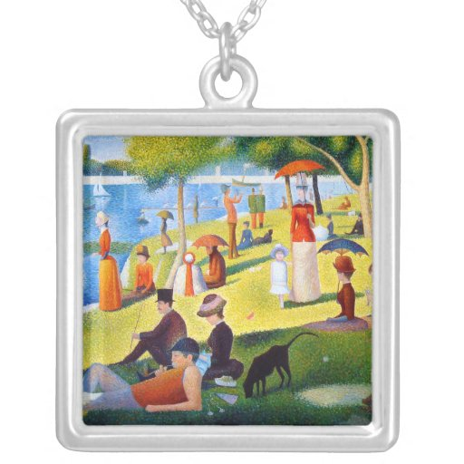 Seurat: A Sunday at La Grande Jatte Personalized Necklace