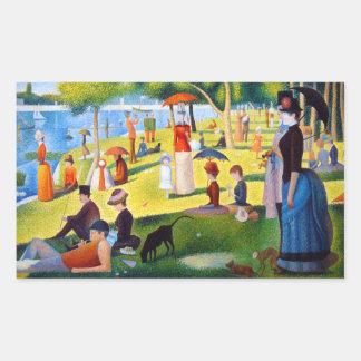 Seurat: A Sunday at La Grande Jatte Rectangular Sticker