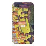 Seurat - domingo en la grande pintura del je del l iPhone 4 cárcasa