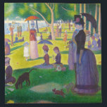 "Seurat La Grande Jatte Napkins<br><div class=""desc"">Seurat La Grande Jatte napkins. Oil painting on canvas from 1886. French neo-impressionist Georges Seurat's most famous painting, A Sunday Afternoon on the Island of La Grande Jatte depicts park goers lounging by the lake on a sunny Sunday afternoon. A woman with a large bustle and a monkey on a...</div>"