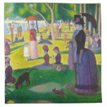 Seurat La Grande Jatte Napkins<br><div class='desc'>Seurat La Grande Jatte napkins. Oil painting on canvas from 1886. French neo-impressionist Georges Seurat's most famous painting, A Sunday Afternoon on the Island of La Grande Jatte depicts park goers lounging by the lake on a sunny Sunday afternoon. A woman with a large bustle and a monkey on a...</div>