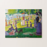 """Seurat La Grande Jatte Puzzle<br><div class=""""desc"""">Seurat La Grande Jatte puzzle. Oil painting on canvas from 1886. French neo-impressionist Georges Seurat's most famous painting, A Sunday Afternoon on the Island of La Grande Jatte depicts park goers lounging by the lake on a sunny Sunday afternoon. A woman with a large bustle and a monkey on a...</div>"""